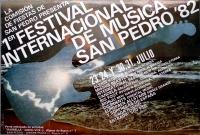 FESTIVAL SAN PEDRO - 1982 - Plakat - Alexis Korner - Missus Beastly - Poster