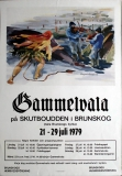 GAMMELVALA FESTIVAL - 1979 - Konzertplakat - Poster - Brunskog