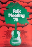 FOLK MEETING - 1975 - Campbell - Ray Austin - Jansch - Poster - Braunschweig