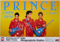 PRINCE - 1990 - Plakat - In Concert - Open Air Tour - Poster - Köln