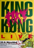 KING KONG - 1990 - Konzertplakat - Ärtze - King Who - Tourposter - Düsseldorf