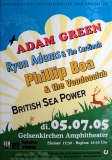 FESTIVAL - 2005 - Phillip Boa - Ryan Adams - Adam Green - Poster - Gelsenkirchen