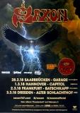 SAXON - 2018 - Tourplakat - In Concert - Thunderbolt Tour - Poster