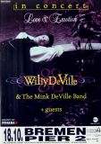 DE VILLE, WILLY - 1996 - Konzertplakat - Love & Emotion - Tourposter - Bremen