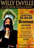 DE VILLE, WILLY - 2005 - Konzertplakat - Crow Jane Ally - Tourposter - Bremen