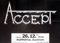 ACCEPT - 1983 - Konzertplakat - Balls to the Wall - Tourposter - Wuppertal