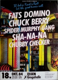 30 JAHRE ROCK N ROLL - 1984 - Fats Domino - Berry - Checker - Poster - Essen