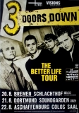 3 DOORS DOWN - 2000 - Tourplakat - In Concert - Better Life - Tourposter - G
