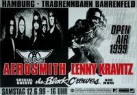 AEROSMITH - 1999 - Plakat - Lenny Kravitz - Black Crowes - Poster - Hamburg