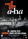 A-HA - 2018 - Konzertplakat - Concert - Acoustic - Tourposter - Hamburg