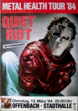 QUIET RIOT - 1984 - Plakat - In Concert - Metal Health Tour - Poster - Offenbach