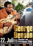 BENSON, GEORGE - 2019 - Plakat - Poster - Berlin - Signed / Autogramm - B