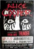 COOPER, ALICE - 2017 - Concert - Poster - Frankfurt - Signed / Autogramm