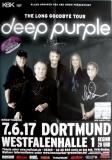 DEEP PURPLE - 2017 - Concert - Poster - Dortmund - Signed / Autogramm +Pass