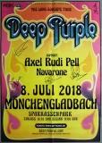 DEEP PURPLE - 2018 - Concert - Poster - Mönchengladbach - Signed / Autogramm
