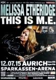 ETHERIDGE, MELISSA - 2015 - Poster - Concert - Aurich - Signed / Autogramm