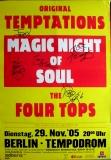 TEMPTATIONS - 2005 - Poster - In Concert - Berlin - Signed / Autogramm