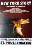 NEW YORK STORY - 1997 - Plakat - Yoko Ono - Beatles - Poster - Hamburg