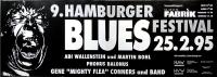 BLUES FESTIVAL - 1995 - Plakat - Abi Wallenstein - Poster - Hamburg
