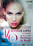 LOPEZ, JENNIFER - 2012 - Plakat - In Concert - Dance Again - Poster - Hamburg