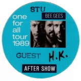BEE GEES - 1989 - After Show Pass - One for All Tour - Stuttgart