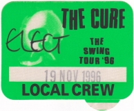 CURE, THE - 1996 - Local Crew Pass - The Swing Tour - Stuttgart