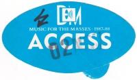 DEPECHE MODE - 1987 - Access Pass - Music for the Masses Tour - Stuttgart