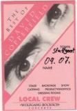 COPPERFIELD, DAVID - 1995 - Local Crew Pass - Best of Tour - Stuttgart