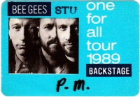 BEE GEES - 1989 - Backstage Pass - One for All Tour - Stuttgart