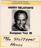 BELAFONTE, HARRY - 1988 - Pass - European Tour - Stuttgart