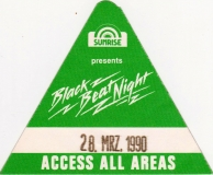 BLACK BEAT NIGHT - 1990 - All Areas Pass - Tour - Stuttgart