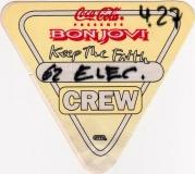BON JOVI - 1993 - Crew Pass - Keep the Faith Tour - Stuttgart