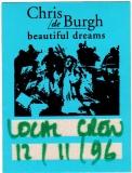 DE BURGH, CHRIS - 1996 - Local Crew Pass - Beatiful Dreams Tour - Stuttgart