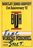 BARCLAY JAMES HARVEST - 1987 - Working Pass - Face to Face Tour - Stuttgart