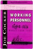 COCKER, JOE - 1992 - Working Personal Pass - Night Calls Tour - Stuttgart