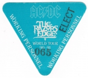 AC/DC - ACDC - 1991 - Working Pass - The Razors Edge - World Tour - Stuttgart