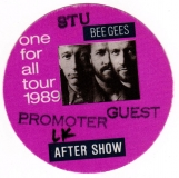 BEE GEES - 1989 - Promotor - After Show Pass - One for All Tour - Stuttgart - A