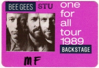 BEE GEES - 1989 - Backstage Pass - One for All Tour - Stuttgart - B