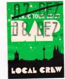BAP - 1988 - Local Crew Pass - Da Capo Tour - Köln