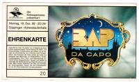 BAP - NIEDECKEN - 1988 - Ticket - Eintrittskarte - Da Capo - Göppingen