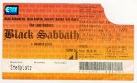 BLACK SABBATH - 1999 - Ticket - Eintrittskarte - The Last Supper - Stuttgart