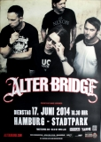 ALTER BRIDGE - 2014 - Plakat - In Concert - Tour - Poster - Hamburg