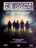 3 DOORS DOWN - 2016 - Plakat - Us and the Night - Poster