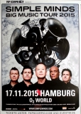 SIMPLE MINDS - 2015 - Plakat - In Concert - Big Music Tour - Poster - Hamburg