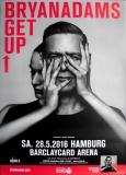 ADAMS, BRYAN - 2016 - Plakat - In Concert - Get Up - Poster - Hamburg