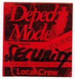 DEPECHE MODE - 1983 - Local Crew Pass - Construction Time Tour - Hamburg