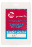 DOLBY, THOMAS - 1984 - Limited Access Pass - The Flat Earth Tour - Hamburg