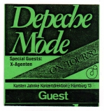 DEPECHE MODE - 1982 - Guest Pass - A Broken Frame Tour - Hamburg
