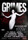 GRIMES - 2016 - Plakat - In Concert - Hana - The Acid Reign Tour - Poster