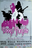 DEEP PURPLE - 2011 - Plakat - In Concert - Poster - Halle - Signed/Autogramm